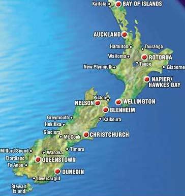 новая зеландия фото городов